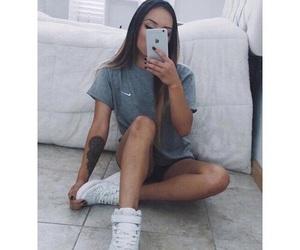 girl, nike, and style image