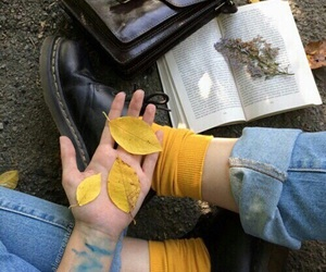 yellow, aesthetic, and book image