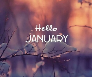 january, hello, and snow image