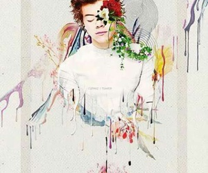 Harry Styles, one direction, and art image