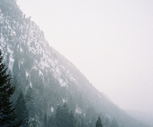 snow, mountains, and nature image