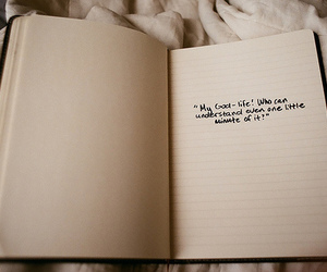 quote, text, and notebook image