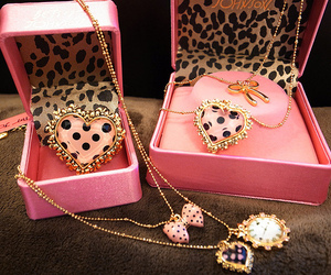 pink, necklace, and heart image