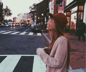 girl, city, and street image