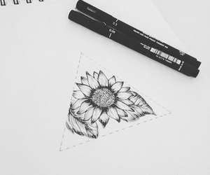 black and white, design, and drawing image