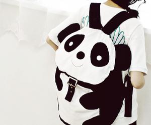 panda, bag, and kawaii image