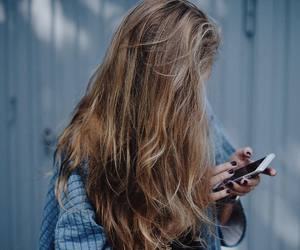hair, iphone, and long hair image
