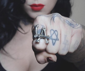 alternative, rings, and ink image