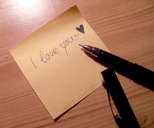 I Love You, note, and cute image