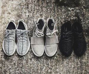black, sneakers, and yeezy image