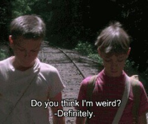weird, movie, and stand by me image