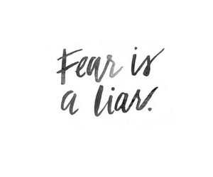 quote, fear, and handwriting image