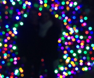 christmas lights, lights, and christmas tree image