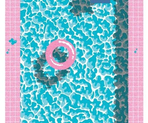 pool, pink, and summer image