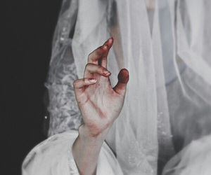 blood and white image