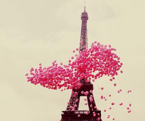 paris, pink, and balloons image
