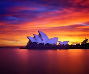 australia, Sydney, and sunset image