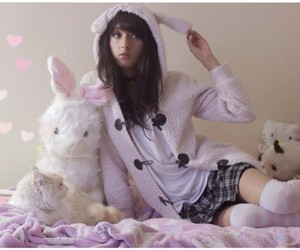 babydoll, bunny, and cat image