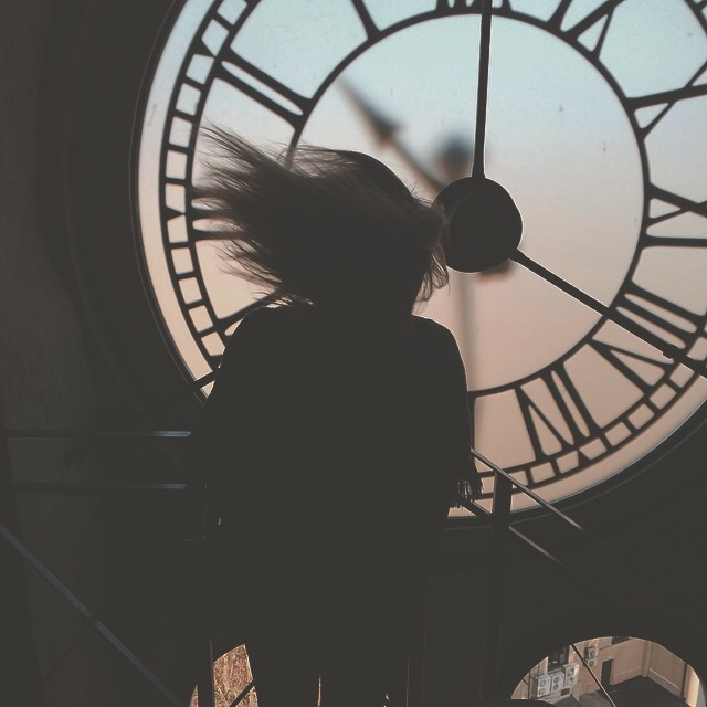 girl, clock, and time image