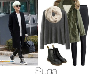 army, outfit, and bangtan image