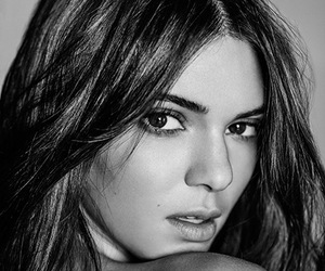 beauty, black&white, and Kendall image