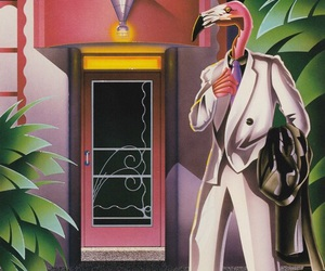 fashion, flamingo, and psychedelic image