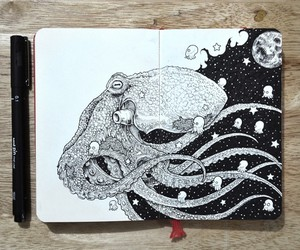 drawing, art, and cool image