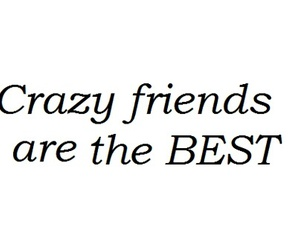 quote, friends, and crazy image