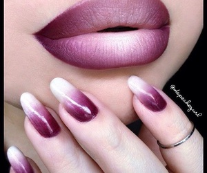 nails, lips, and makeup image