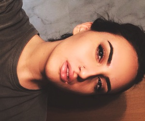 black, brow, and brunette image