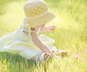 baby, grass, and cute image