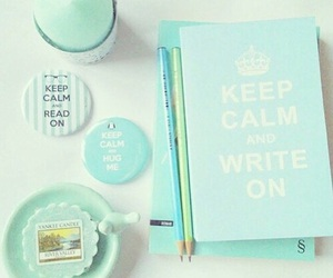 mint, school, and keep calm image