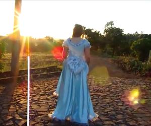 dress, nascer do sol, and azul image
