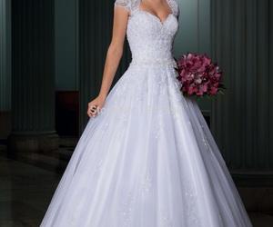 fashion, bride, and white image