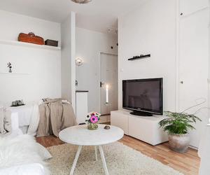 interiors, living room, and small space image