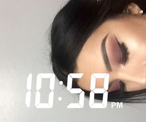 makeup, time, and snapchat image