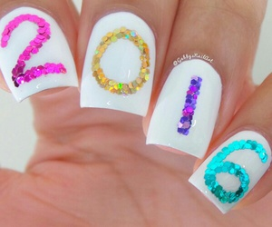 2016, blue, and nail art image