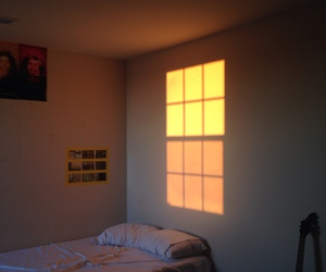 bed, morning, and window image