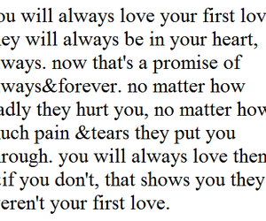 love, quote, and first love image