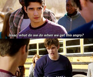 teen wolf, isaac, and scott mccall image