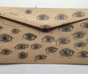 eyes, drawing, and envelope image