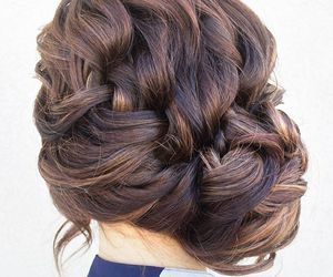 braid, bun, and hair image