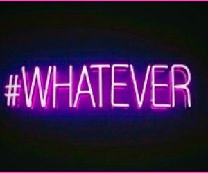 whatever and neon image