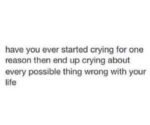 quote, crying, and life image