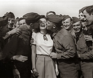 boys, girl, and second world war image