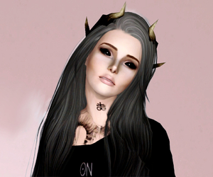 demon, sims, and the sims image