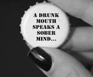 drunk, sober, and quote image