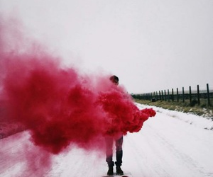 red, smoke, and grunge image