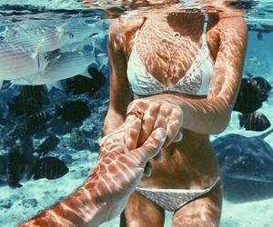 bikini, girl, and preto image