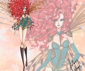 merida, disney, and princess image